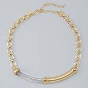 White House Black Market Lucite Bar Short Necklace
